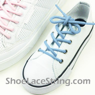 Kids Light Sky Blue Round ShoeLace Round ShoeString 2Pairs