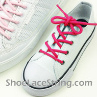 Kids Hot Pink Round Shoe Lace Hot Pink Round Shoe String 2Pairs