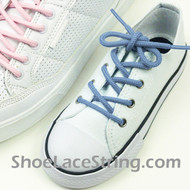 Kids Light Blue Round ShoeLace Light Blue Round ShoeString 2Pair