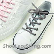 Kids Dark Gray Round ShoeLace Dark Grey Round Shoe String 2Pairs