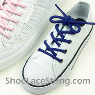 Kids Blue Round Shoe Laces Blue Round Shoe Strings 2Pairs