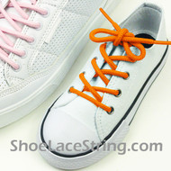 Kids Orange Round Shoe Laces Orange Round Shoe Strings 2Pairs