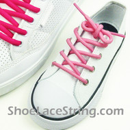 Kids Pink Round Shoe Laces Pink Round Shoe Strings 2Pairs
