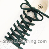 "Dark Green 54"" Oval Shoe Lace Dark Green Oval Shoe String 2Pairs"