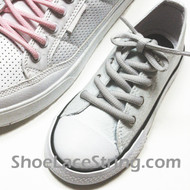 Light Grey Kids/27INCH Oval ShoeLace Gray Oval ShoeString 2Pairs