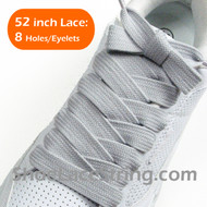Light Gray Extra Fat Laces Grey Super Wide/Fat Shoestring 2Pairs
