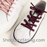 Maroon Kids Oval ShoeLace Maroon/Burgundy Oval ShoeString 2Pairs
