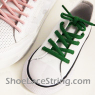 Green Kid's/27INCH Oval ShoeLace Green Oval ShoeString 2Pairs