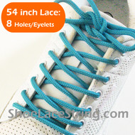 Turquoise Round 54IN ShoeLace Turquoise Round Shoe Strings 2PRs