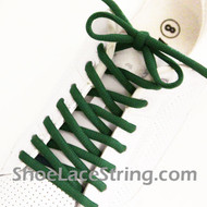 Green 54INCH Oval ShoeLace Green Oval ShoeString 2Pairs