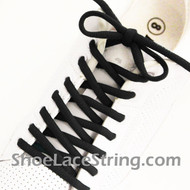 Black 54INCH Oval Shoe Lace Black Oval Shoe String 2Pairs