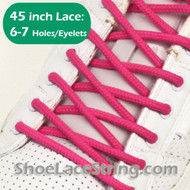 Hot Pink 45INCH Round Shoe Lace HotPink Round Shoe String 2PAIRS