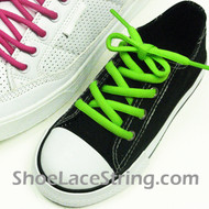 Neon Green 27inch or Kids Oval ShoeLace Replacement String 2Pair