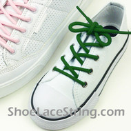 Green Kids/ 27INCH Round ShoeLaces Round ShoeStrings 2Pairs