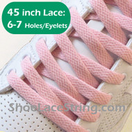 Light Pink 45INCH Flat Shoe Lace LightPink Flat Shoe String 2PRs