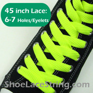Neon Yellow 45IN Fat Laces Neon Yellow Flat Wide ShoeString 2PRs