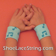 Music Notes Light Blue Cute Kids Wrist Bands for Party,  2PAIRS