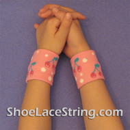Pink Cherry Cute Kids Wrist Bands for Party,  2PAIRS