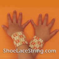 Beige Polka Dots Cute Kids Wrist Bands for Party, 2PAIRS