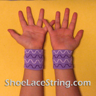 Lavender Wave Pattern Cute Kid's Wrist Bands for Party,  2PAIRS