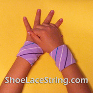 Lavender Striped Cool Kid's Wrist Bands for Party,  2PAIRS