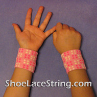 Pink Polka Dots Cute Kids Wrist Bands for Party,  2PAIRS