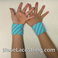 Sky Blue Striped Cool Kid's Wrist Bands for Party,  2PAIRS