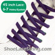 Purple 45INCH Oval Shoe Laces Purple Oval ShoeStrings 2PAIRs