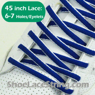 "Blue and White Oval 45IN Shoe Laces Oval 45"" Shoe Strings 2PRs"