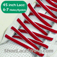 "Red and White Oval 45IN Shoe Laces Oval 45"" Shoe Strings 2PRs"