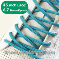 Turquoise 45IN Round Shoe Lace Turquoise Round Shoe String 2PRs