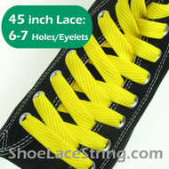 Yellow Flat Fat/Wide 45INCH Shoe Laces Shoe Strings 2PRs