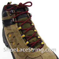 """Red and Black 54"""" Hiking/Work Boots Round Shoe Laces, 1Pair"""