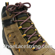 Gray/Grey and Red Hiking/Work 54IN Boots Round Shoe Laces 1Pair