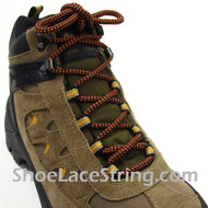 Orange Brown 54 INCH Hiking/Work Boots Round Shoe Laces, 1Pair