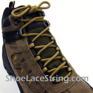 "Tan and Silver 54"" Hiking/Work Boots Round Shoe Laces, 1Pair"