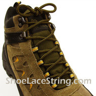 "Golden Yellow Black Hiking/Work Boots 54"" Round ShoeLaces, 1Pair"