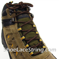 "Brown and Black Hiking/Work Boots Round 54"" Shoe Laces, 1Pair"