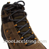 Light Gray & Navy Blue Hiking/Work Boots 54IN Round Laces, 1Pair