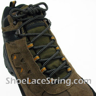 Gray/Grey & Black Hiking/Work Boots 54IN Round ShoeLaces, 1Pair