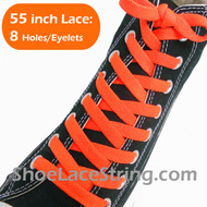 Neon Orange 55INCH Shoe Laces Orange Shoe Strings 2Pairs
