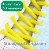 Bright Yellow 45INCH Oval Shoe Laces Sneaker Strings 2Pairs