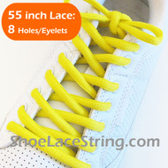 Bright Yellow 55INCH Oval Shoe Laces Sneaker Strings 2Pairs