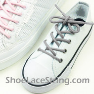Kid's/27IN Gray Round ShoeLaces Grey Round Shoe String 2Pairs