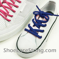 Blue Kid's/27INCH Oval ShoeLace Blue Oval ShoeString 2Pairs