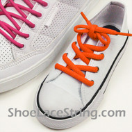 Orange Kid's/27INCH Oval ShoeLace Orange Oval ShoeString 2Pairs