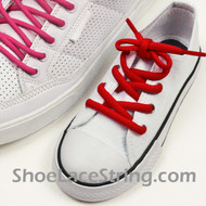 Red Kid's/27INCH Oval ShoeLace Red Oval ShoeString 2Pairs