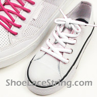 White Kids/27INCH Oval ShoeLace White Oval ShoeString 2Pairs