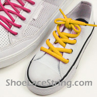 Yellow Kids/27INCH Oval ShoeLace Yellow Oval ShoeString 2Pairs