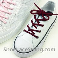 Maroon Kids/27INCH Round Shoe Lace Burgundy ShoeString 2Pairs